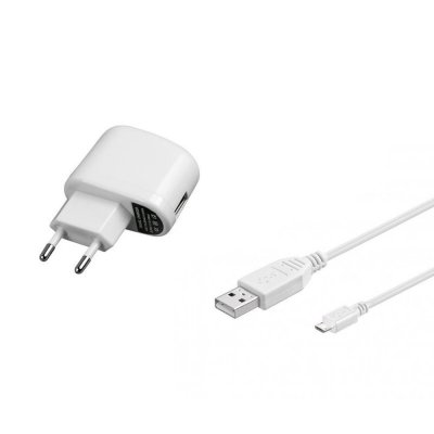 Power supply 5V + USB cable 3m with angled plug (white)