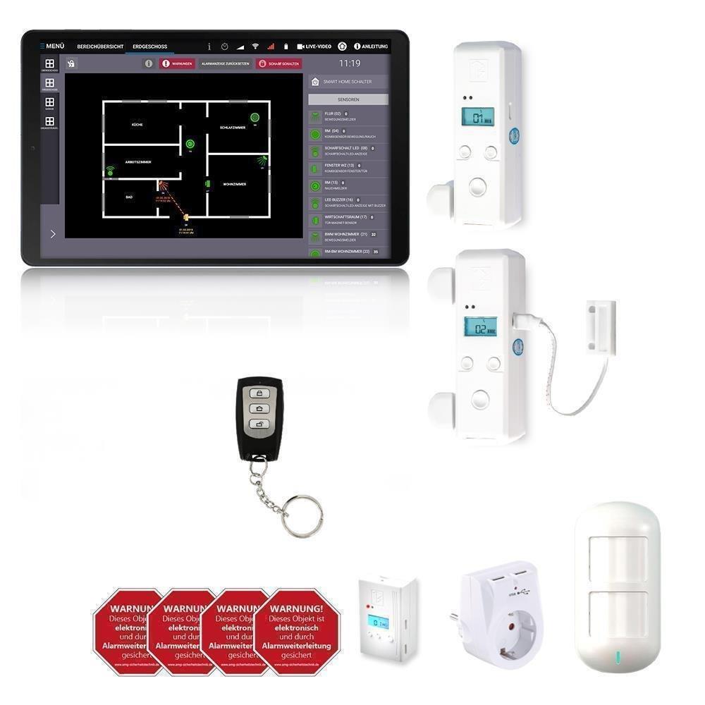 PIR Sensor Alarm Wireless Alarm Kabellos Funk Fernbedienung Alarmanlage