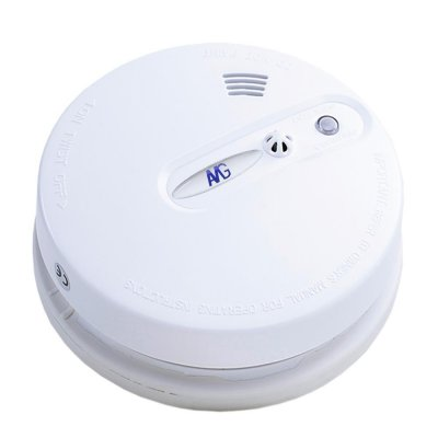 Wireless smoke detector set with cable interior siren fire detection system 20