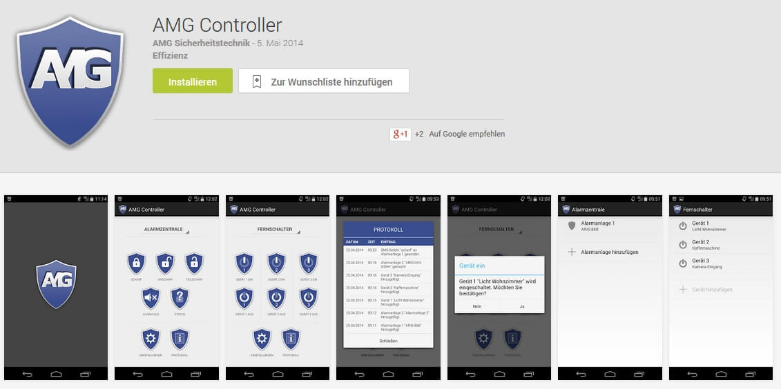 Android App AMG Controller