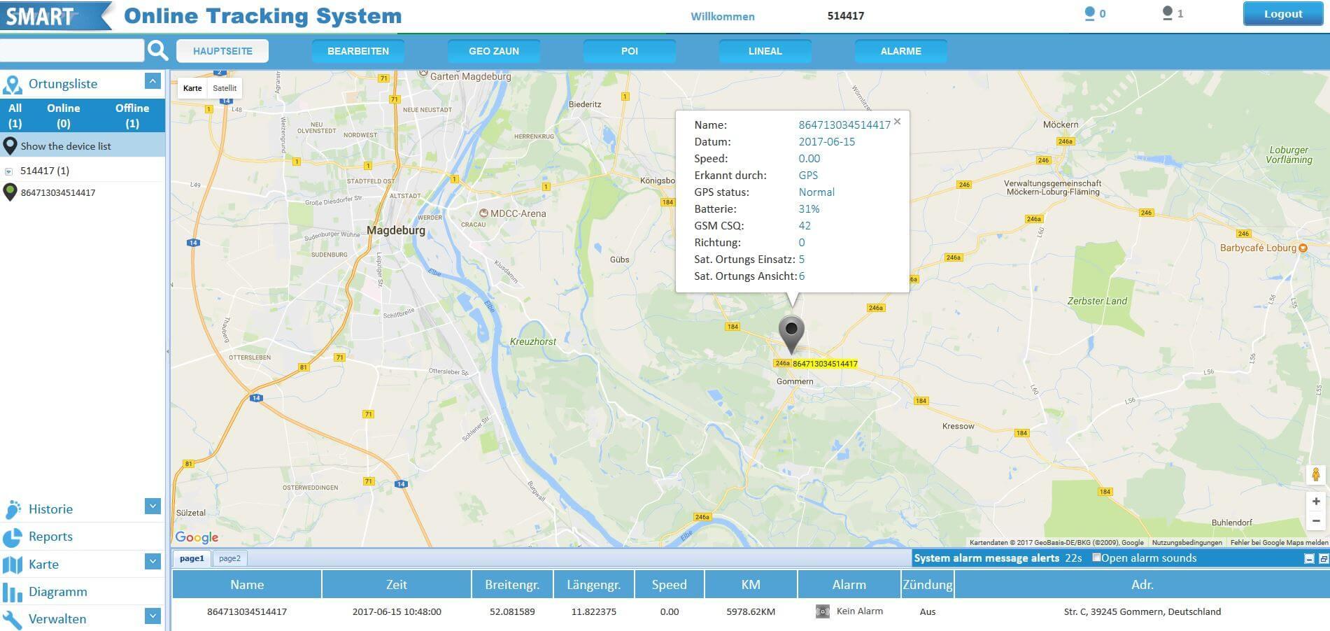 AMGoTrack Online-Portal
