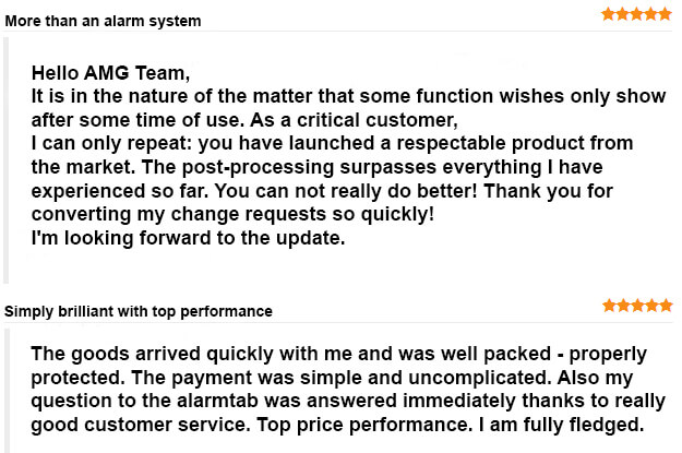 Alarmtab customer review
