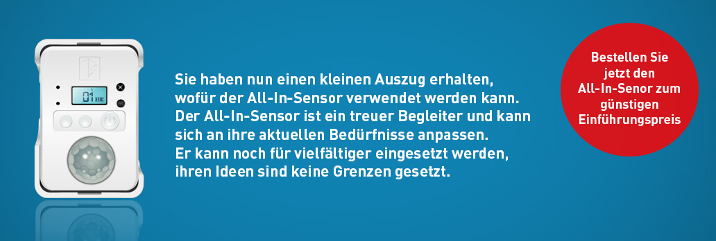 All In Sensor Vorbestellung