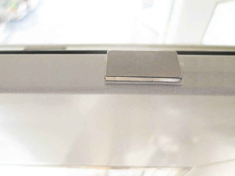 Mounting example of the folding magnet